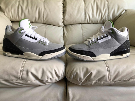 Tenis Air Jordan Retro 3 Chlorophyll Del 28.5mx