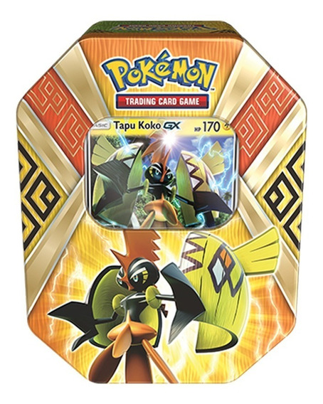 Coleccion Tarjetas Pokemon Tapu Koko Island Guardians Tin