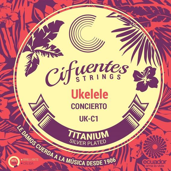 Cuerdas Ukelele Concierto Titanium Nylon Cifuentes Uk - C1