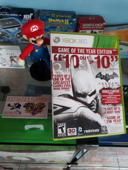 Batman Arkham City Para Xbox 360 (completo Com 2 Discos)