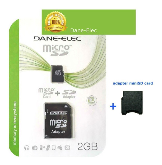 Cartão Micro Sd 2gb Tf + Adaptador Sd + Adaptador Mini Sd