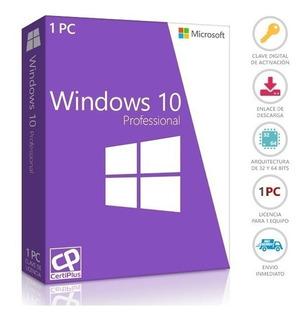 Windows 10 Pro Licencia Original 32/64 Bits Envío Inmediato