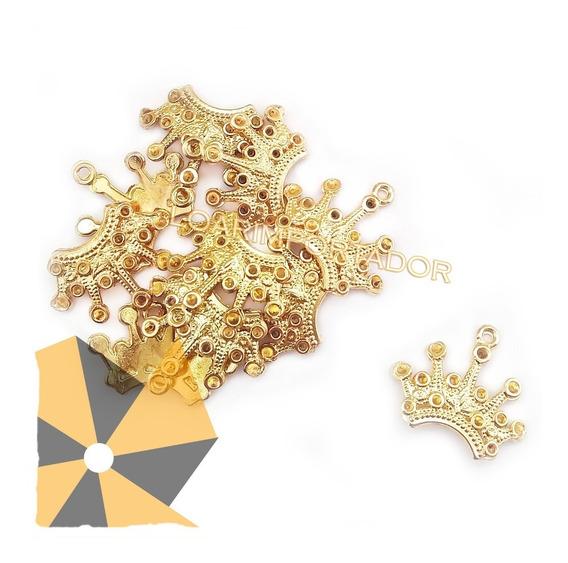 Coronas Doradas Dijes Metalicos Decoración Souvenir X100
