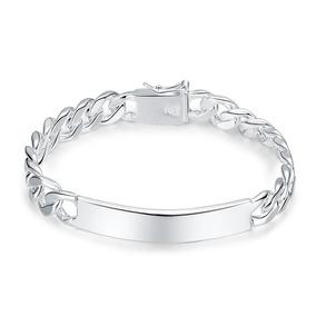 Pulseira Bracelete Banhado Prata 925 Moda Atual 20cm