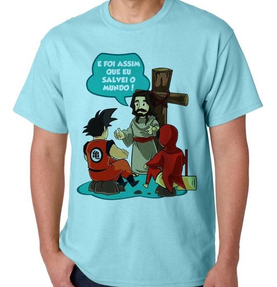 Camisa + Chaveiro Gospel Jesus Nos Salvou Silveirart 24