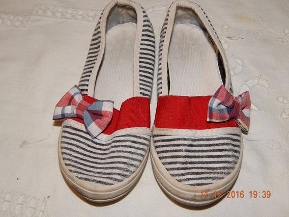 Zapatillas De Verano De Nena N°25 Tipo Alpargata