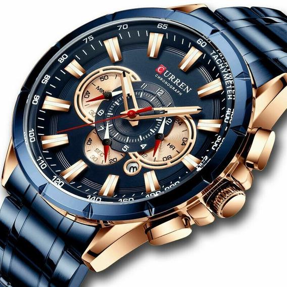 Relógio Curren 8363 Lançamento 2019 Totalmente Funcional