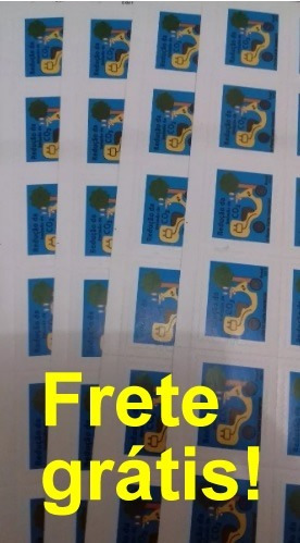 Selo Pra Carta 1°porte Correio Folha 30 Frete Gratis!
