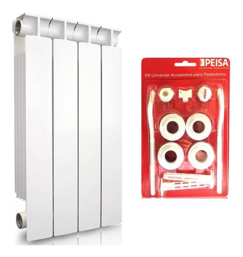 Radiador Peisa Tropical T500/80 8 Elementos + Kit Instal. P