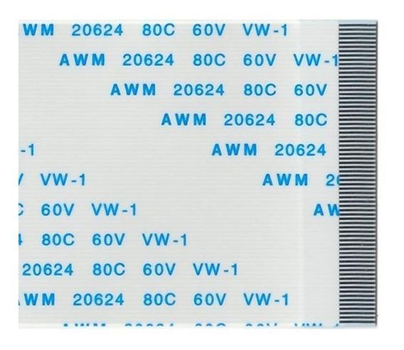 Flat Cable 70 Vias X 150mm X 0,5mm Passo Terminais Normais