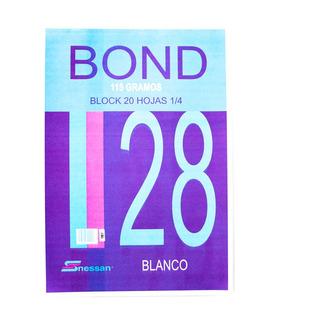 Block Bond B.28 1/4 X 20 Hojas Nessan