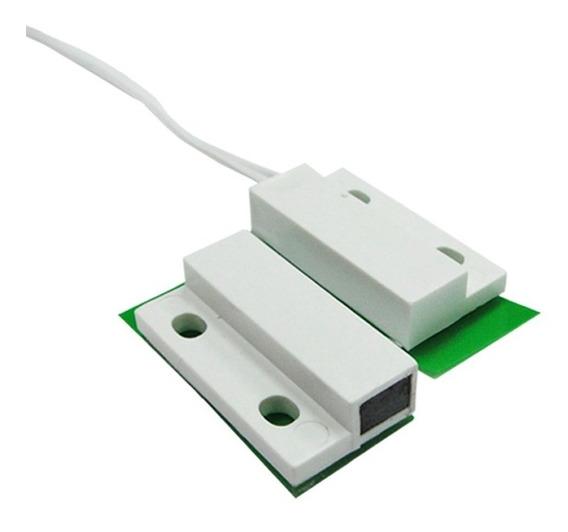 Sensor Magnético Com Fio Sobrepor Alarme Portas Janelas