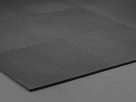 12 Cuadros De Piso Foamy Negro De 1.58 Cm De Grosor 101x101