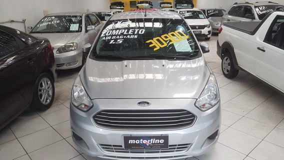 Ford Ka Sedan 1.5 Se Flex 4p Completo Prata 2015