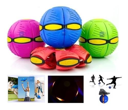 Imagen 1 de 8 de Pelota Mágica Disco Ball Ufo Frisbee Luz Led Se Aplasta