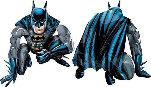 Imagen 1 de 7 de Globo De Batman 3d (67 X 56 Cmts)c/globo De Número Aelección