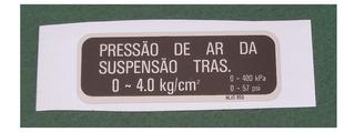 Etiqueta Pressão Amortecedor Traseiro Honda Cbx 750 F Todas