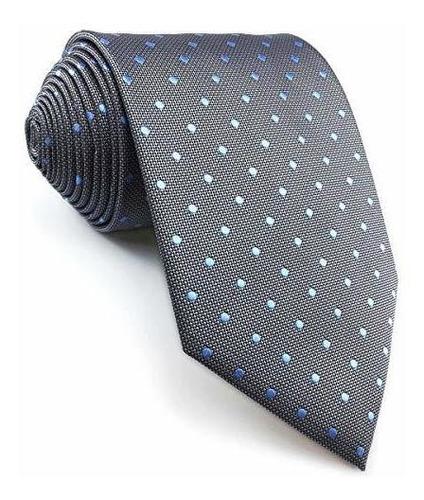 Shlax & Wing Nuevo Diseño Puntos Corbatas Para Hombres Gris