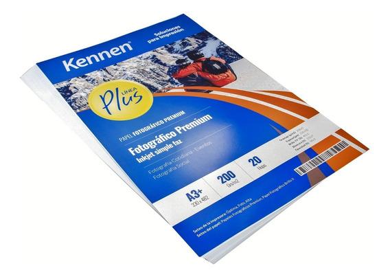 Papel Fotográfico Premium Kennen 200gr A3+ 20 Hojas