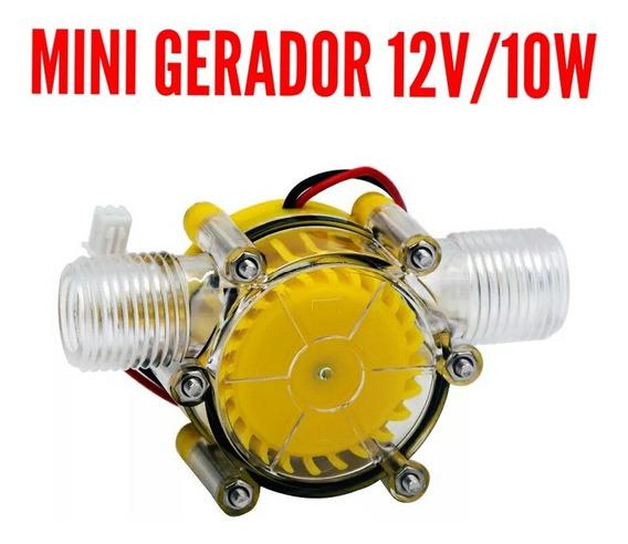 Gerador De Energia Hidro Elétrico Com Fuxo Dagua 12v/10w