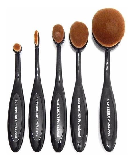 Heburn Kit 1600 Master Brush X5 Pinceles Brochas Maquillaje