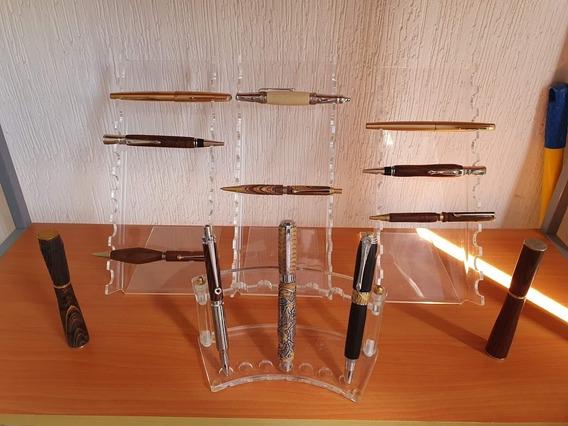 Exhibidor De Acrílico Transparente Para Plumas Y Bolígrafos