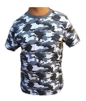 Camiseta Camuflada 100% Algodão Militar