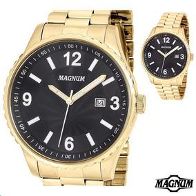 Relógio Magnum Masculino Dourado Ma31364u