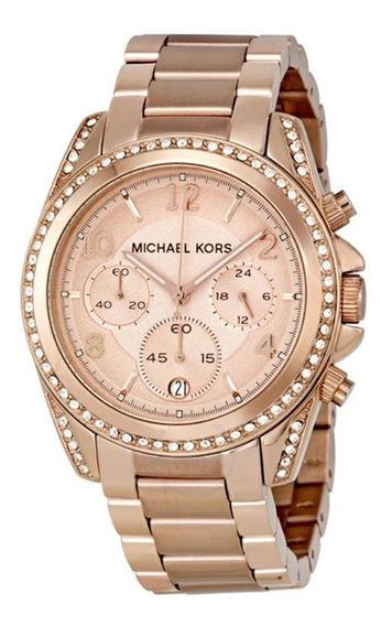 Relógio Michael Kors Mk5263 Original Rose Com Nota Fiscal