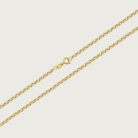 Cordão Em Ouro 18k Com 50cm - 3gr