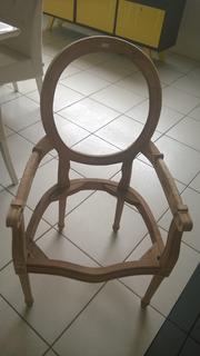 Estrutura Cadeira De Madeira Italiana C/ Escora Mao