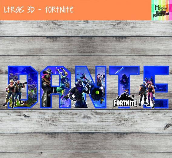 5 Letras 3d Fortnite Candy Bar Decoracion Cumpleaños