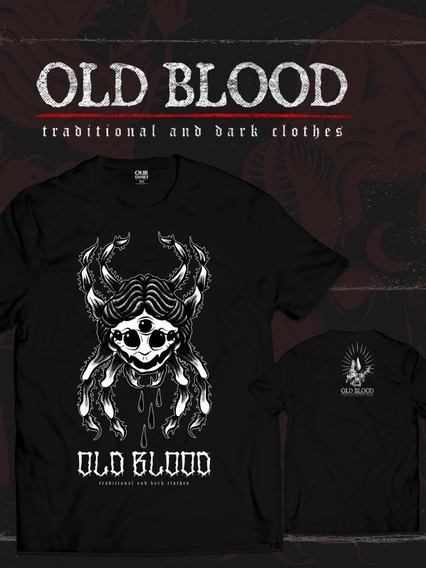 Remera Old Blood, Modelo Old Poison