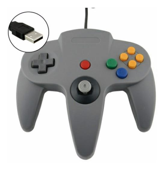 Controle Joystick Nintendo 64 N64 Usb Pc Mac Raspberry Linux
