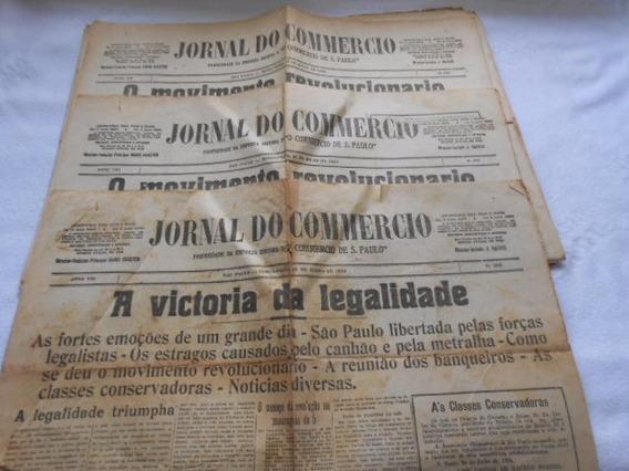 Jornal Do Commércio De Sp Do Ano 1924 Lote 10 Jornais Único