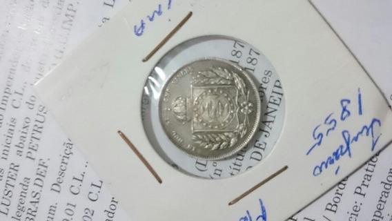 Moeda 200 Réis 1855 Rara.