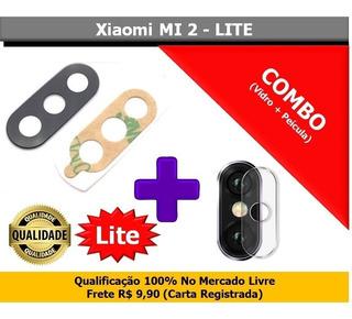 Lente Vidro Camera Traseira + Pelicula Xiaomi Mi A2 Lite