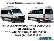 Renta De Camionetas Y Vans De Pasajeros Con Chofer Querétaro