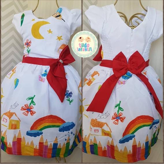 Vestido Festa Infantil Aquarela 04 Anos