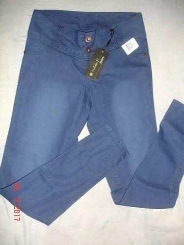 Pantalon Jean Dama Levanta Cola Stretch Talla 10 Colombiano
