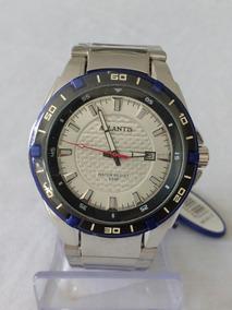 Relógio Prateado Masculino G-3163 Atlantis Style Original.