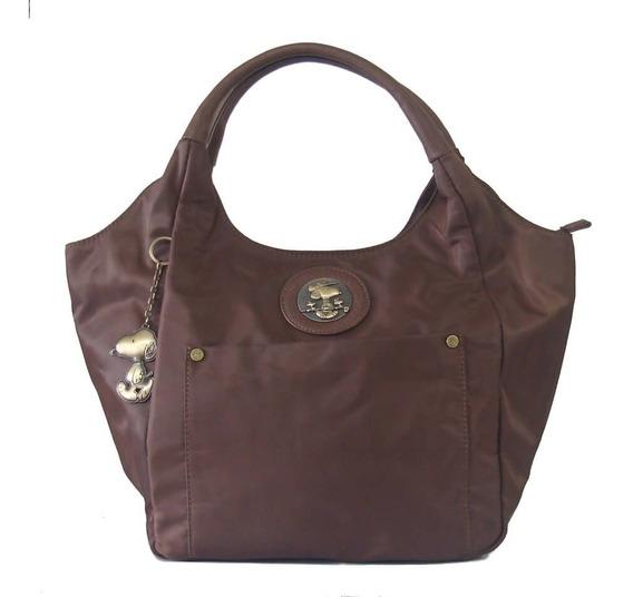 Bolsa Feminina Tote Bag Snoopy Sp6803 Coleção Be Fancy Café
