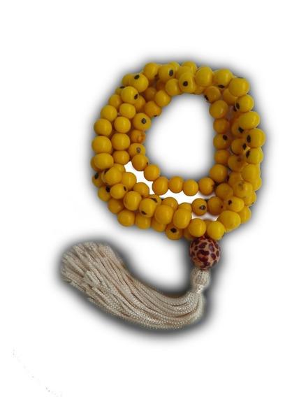 Japamala Feito Com Semente De Açaí Amarelo Ref: 7627