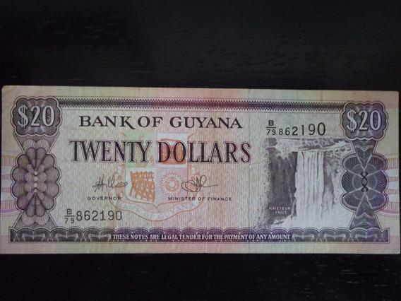 Nota Cédula 20 Dolar Twenty Dollares Guyana (35)