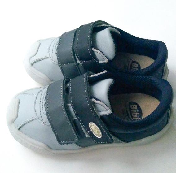 Tênis Bibi Infantil Cinza Chumbo Couro 736222