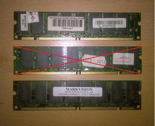 Memoria Ram Para Pc Dimm 128mb Pc100