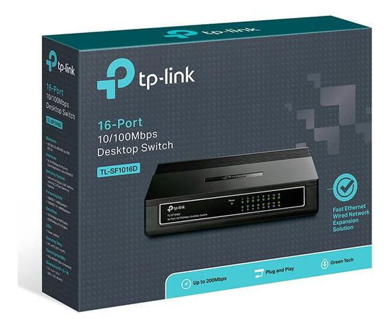 Switch 16 Bocas Tp-link Tl-sf1016d 16 Puertos 10/100mbps