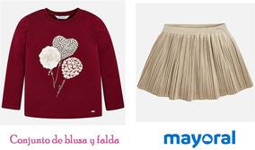Conj. De Blusa Y Falda Mayoral Chic Est. 4064 # 2 Y 3 Años A