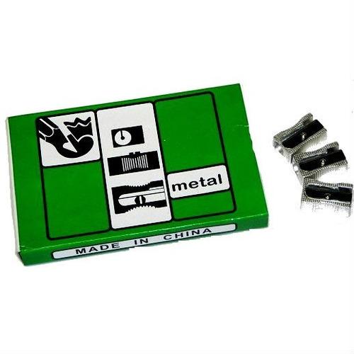 Sacapunta Metalico De Metal Escolar 2 Cajas De 24 Unidades