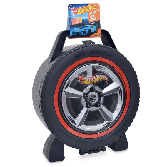 Maleta Hot Wheels Roda Radical 36 Carros - Fun Divirta-se